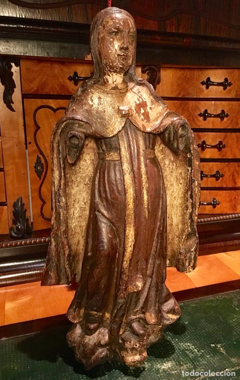 Arte: Talla en madera policromada. Santa Teresa de Avila. S. XVII 43cm - Foto 2 - 151650314