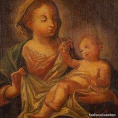 Arte: ANTIGUA PINTURA RELIGIOSA ITALIANA VIRGEN CON NIÑO DEL SIGLO XVIII. Lote 164675454