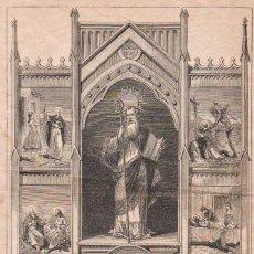 Arte: GRABADO DE SAN ANTONIO ABAD DE 1878. FIRMADO: P.R.. Lote 164700178