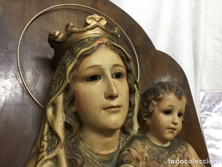 Arte: Retablo Vírgen María de Olot y niño Jesús - Foto 2 - 164796350