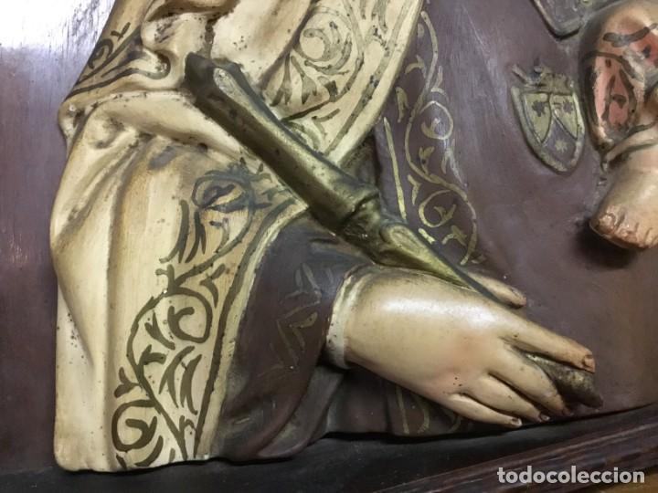 Arte: Retablo Vírgen María de Olot y niño Jesús - Foto 5 - 164796350