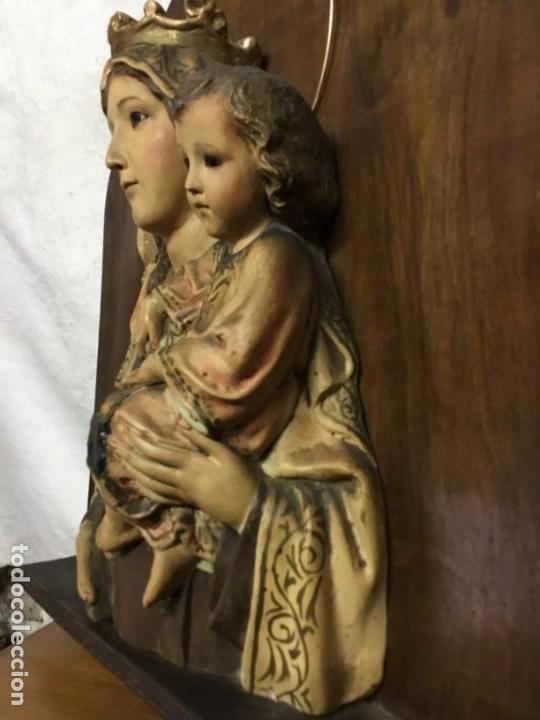 Arte: Retablo Vírgen María de Olot y niño Jesús - Foto 7 - 164796350