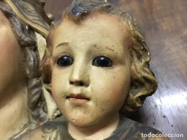 Arte: Retablo Vírgen María de Olot y niño Jesús - Foto 10 - 164796350