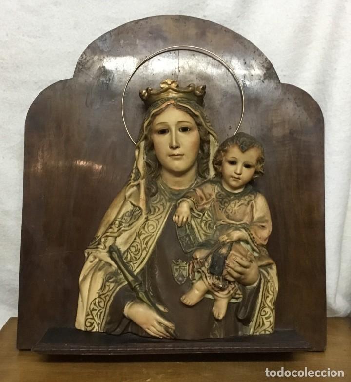 RETABLO VÍRGEN MARÍA DE OLOT Y NIÑO JESÚS (Arte - Arte Religioso - Retablos)