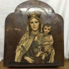 Arte: RETABLO VÍRGEN MARÍA DE OLOT Y NIÑO JESÚS. Lote 164796350