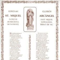 Arte: GOIGS DEL GLORIÓS ST. MIQUEL ARCÀNGEL, SERAROLS, TAVERTET (1991). Lote 164882590