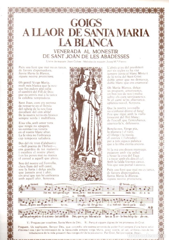 GOIGS A LLAOR DE SANTA MARIA LA BLANCA DE SANT JOAN DE LES ABADESSES (1987) (Arte - Arte Religioso - Grabados)