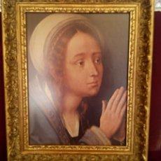 Arte: VIRGEN MARIA EN ORACION - MARCO EN MADERA TALLADA EN CORNUCOPIA Y PAN DE ORO. Lote 165060325