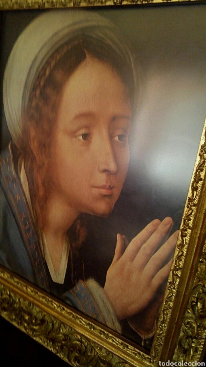 Arte: VIRGEN MARIA EN ORACION - MARCO EN MADERA TALLADA EN CORNUCOPIA Y PAN DE ORO - Foto 3 - 165060325