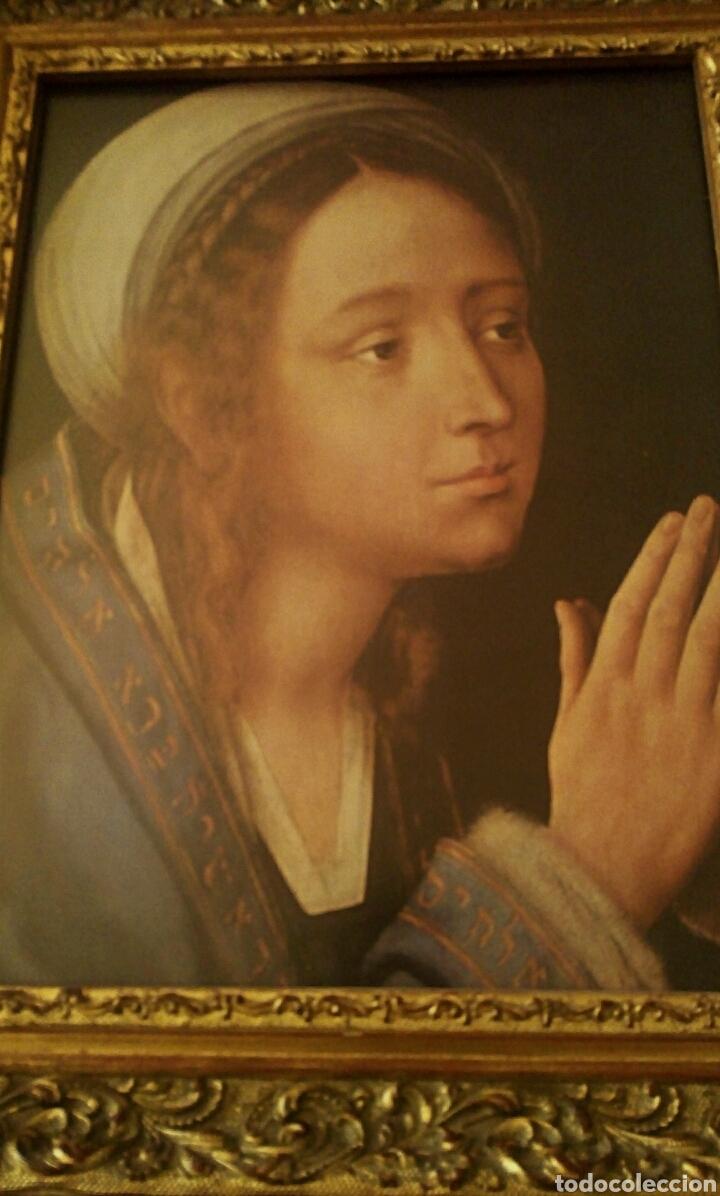 Arte: VIRGEN MARIA EN ORACION - MARCO EN MADERA TALLADA EN CORNUCOPIA Y PAN DE ORO - Foto 7 - 165060325