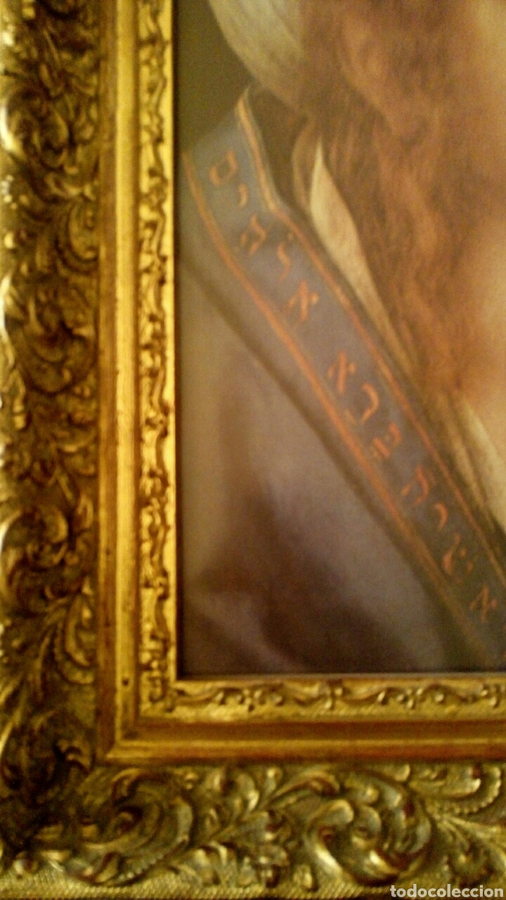 Arte: VIRGEN MARIA EN ORACION - MARCO EN MADERA TALLADA EN CORNUCOPIA Y PAN DE ORO - Foto 8 - 165060325