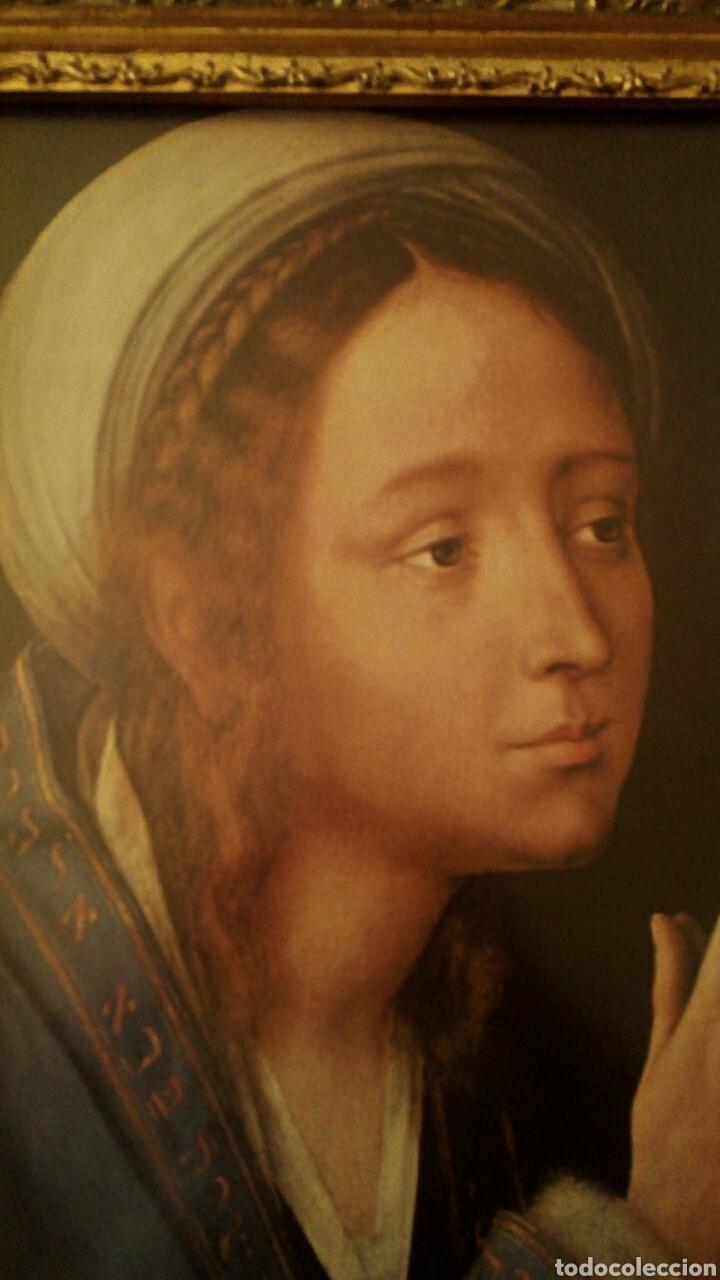 Arte: VIRGEN MARIA EN ORACION - MARCO EN MADERA TALLADA EN CORNUCOPIA Y PAN DE ORO - Foto 9 - 165060325