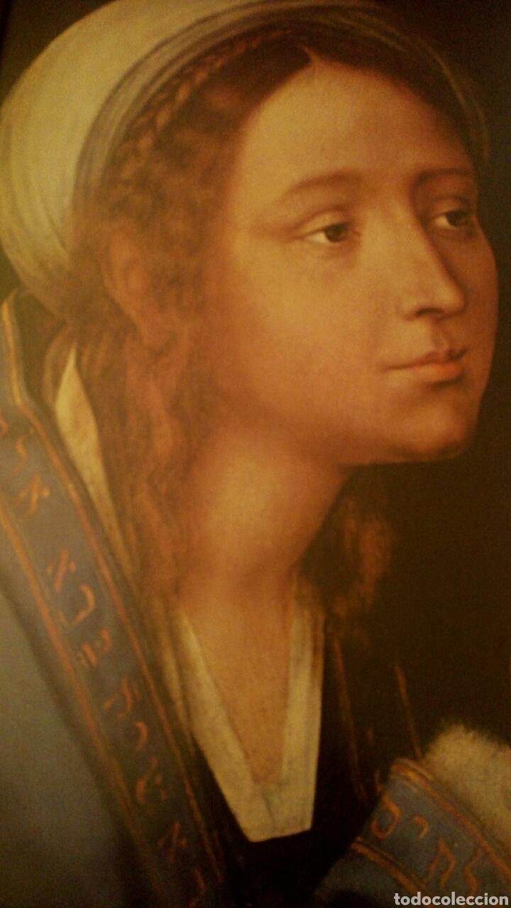 Arte: VIRGEN MARIA EN ORACION - MARCO EN MADERA TALLADA EN CORNUCOPIA Y PAN DE ORO - Foto 10 - 165060325