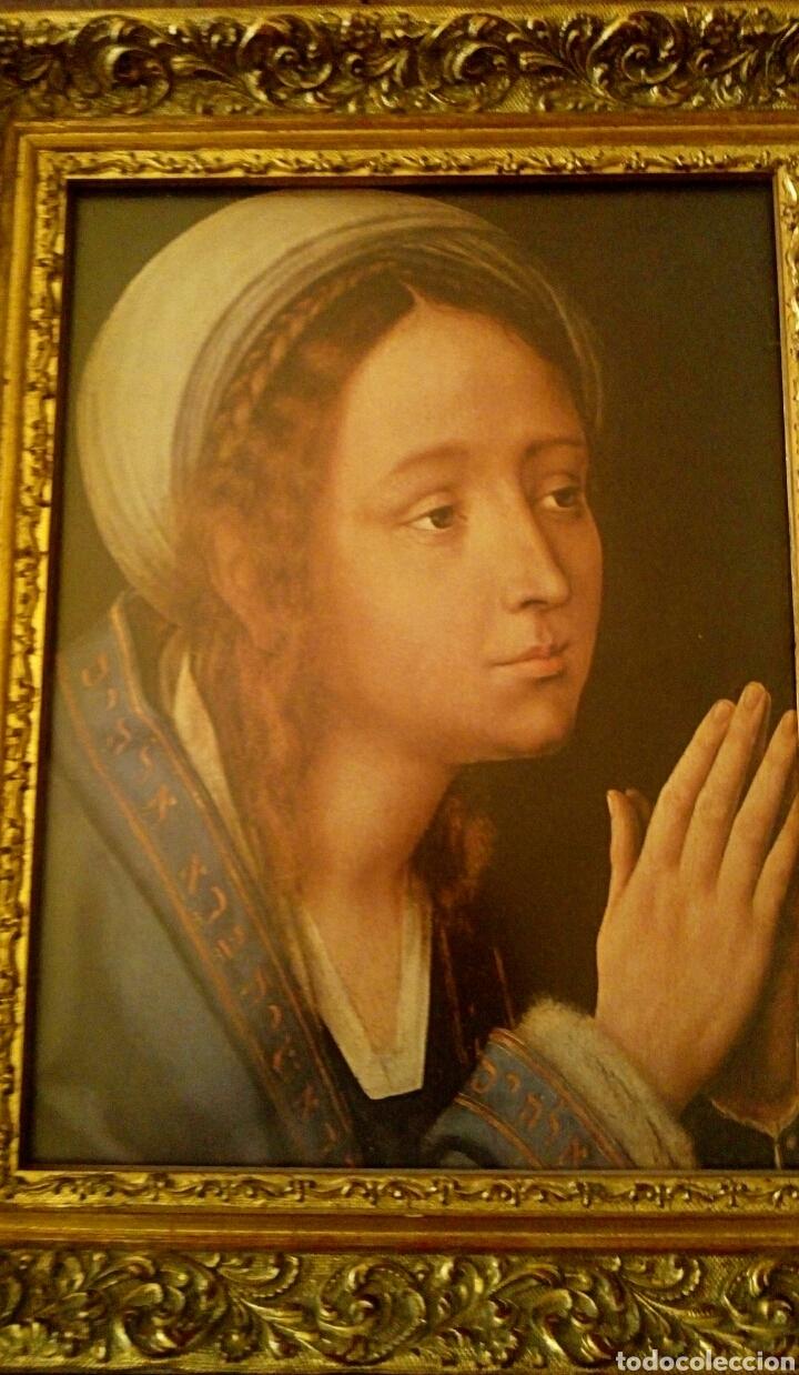 Arte: VIRGEN MARIA EN ORACION - MARCO EN MADERA TALLADA EN CORNUCOPIA Y PAN DE ORO - Foto 12 - 165060325