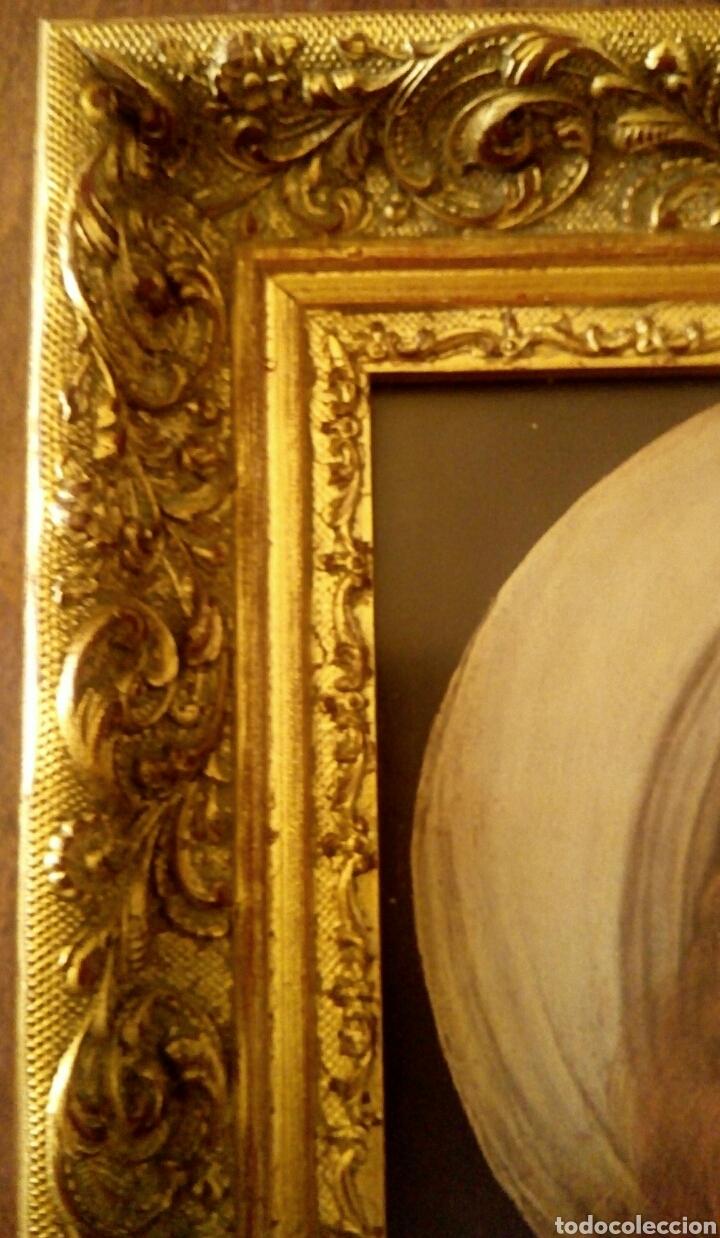 Arte: VIRGEN MARIA EN ORACION - MARCO EN MADERA TALLADA EN CORNUCOPIA Y PAN DE ORO - Foto 14 - 165060325