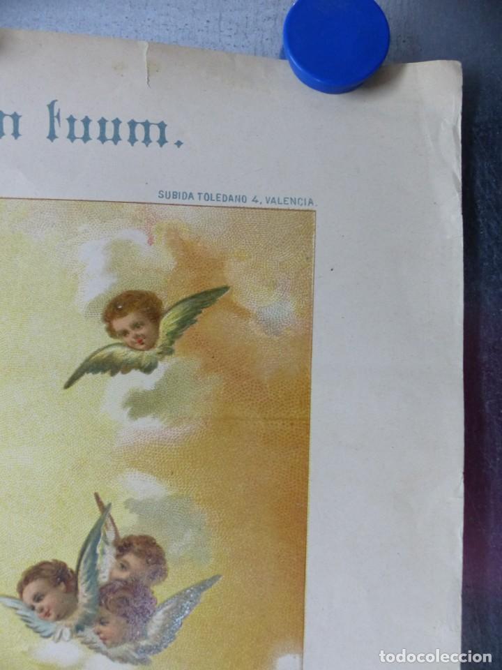 Arte: COPIA DEL SAGRADO CALIZ DE LA CENA, BASILICA DE VALENCIA - AÑO 1893, LITOGRAFIA VIUDA DE P. MARTI - Foto 6 - 165072302