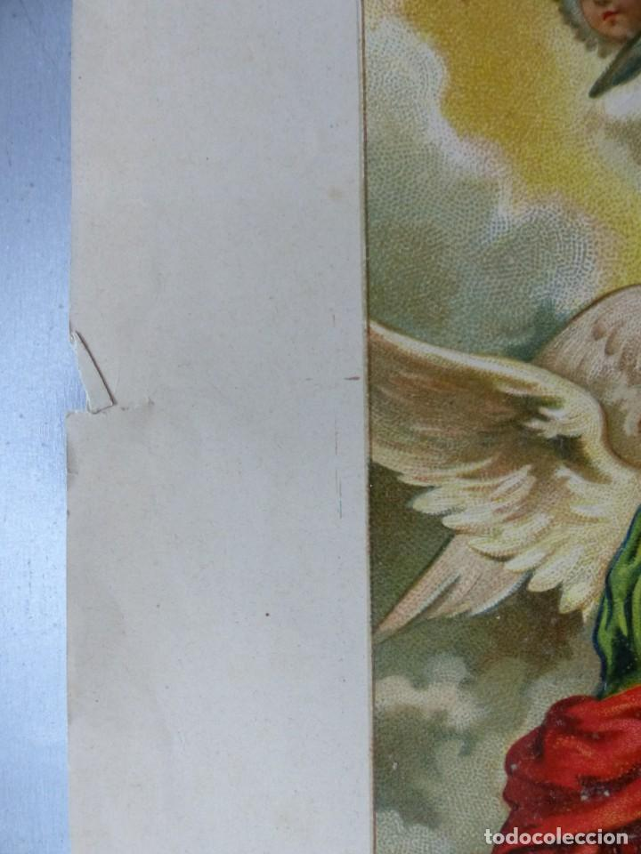 Arte: COPIA DEL SAGRADO CALIZ DE LA CENA, BASILICA DE VALENCIA - AÑO 1893, LITOGRAFIA VIUDA DE P. MARTI - Foto 8 - 165072302