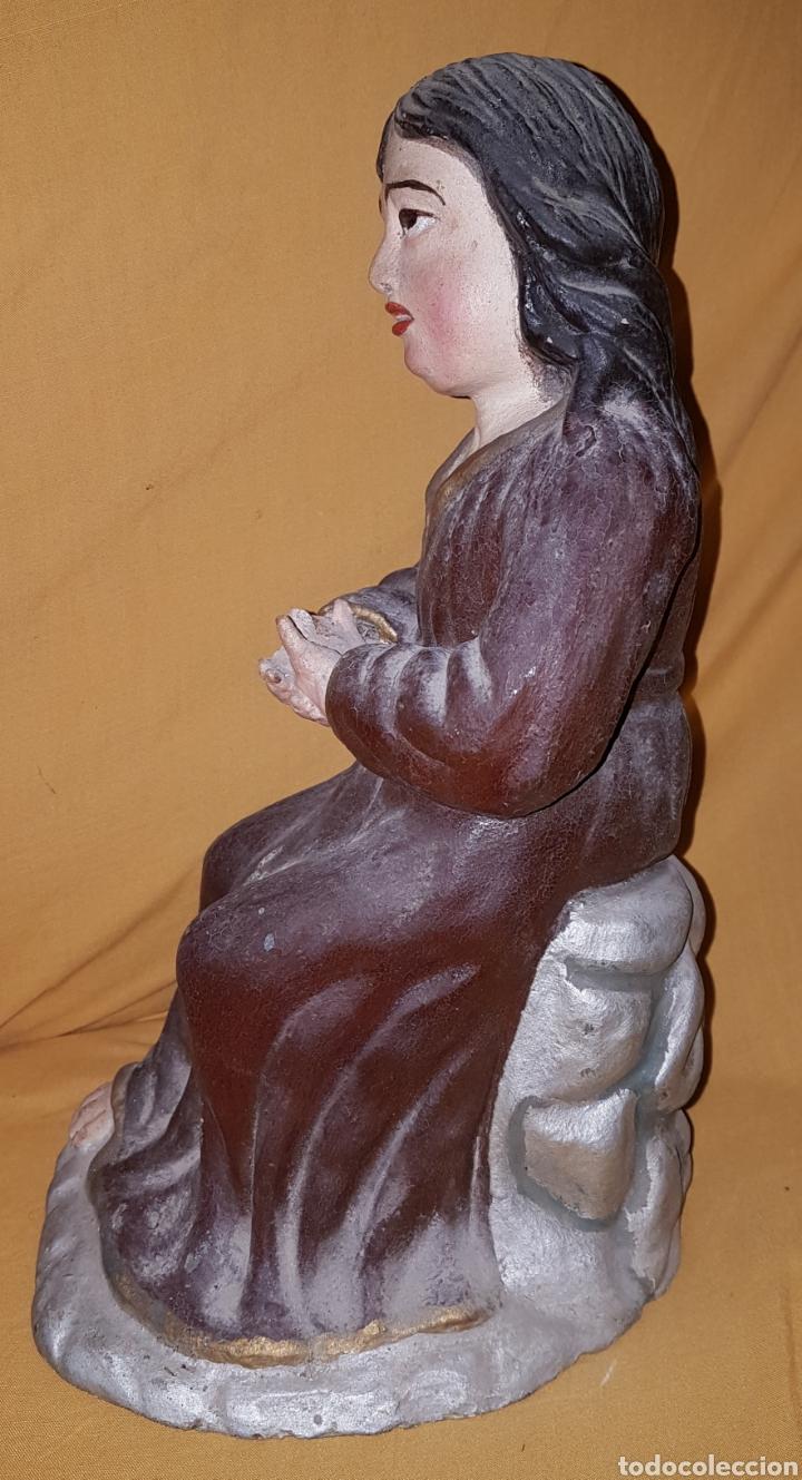 Arte: Rara antigua Virgen en barro - Foto 4 - 165110757