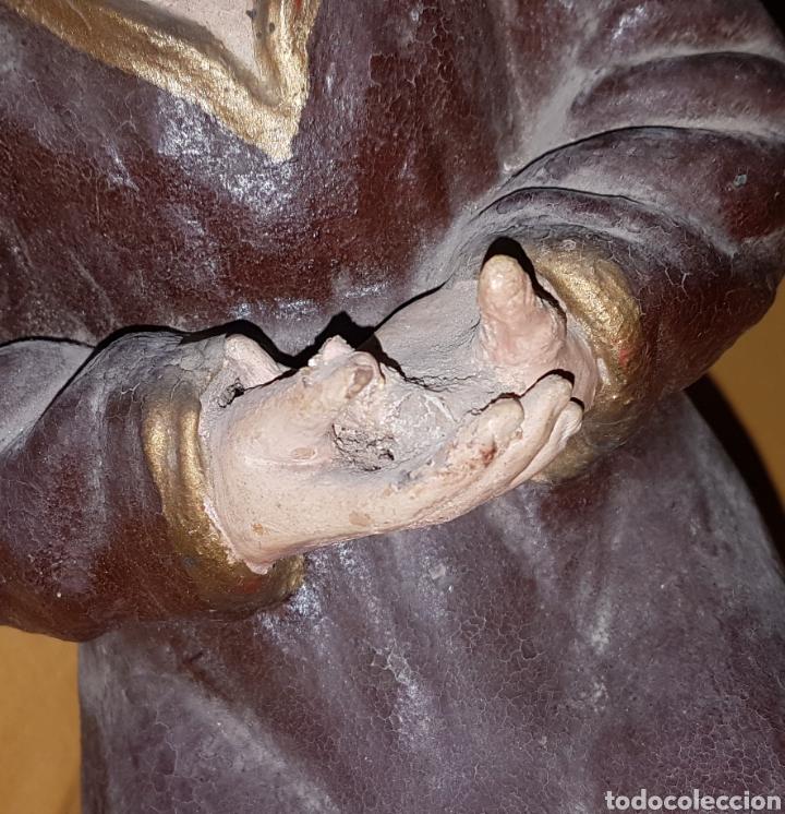 Arte: Rara antigua Virgen en barro - Foto 5 - 165110757