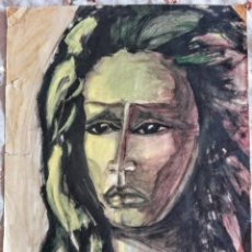 Arte: ACUARELA ORIGINAL VINTAGE, INDIO. Lote 165173634
