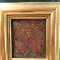 Arte: ICONO RUSO, OLEO SOBRE TABLA, VIRGEN. Lote 165370830