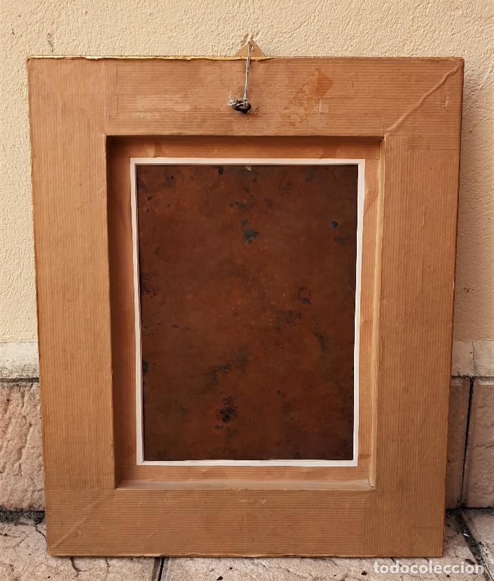Arte: La visión de San Antonio. Óleo sobre cobre. Siglo XVIII. - Foto 14 - 161482558