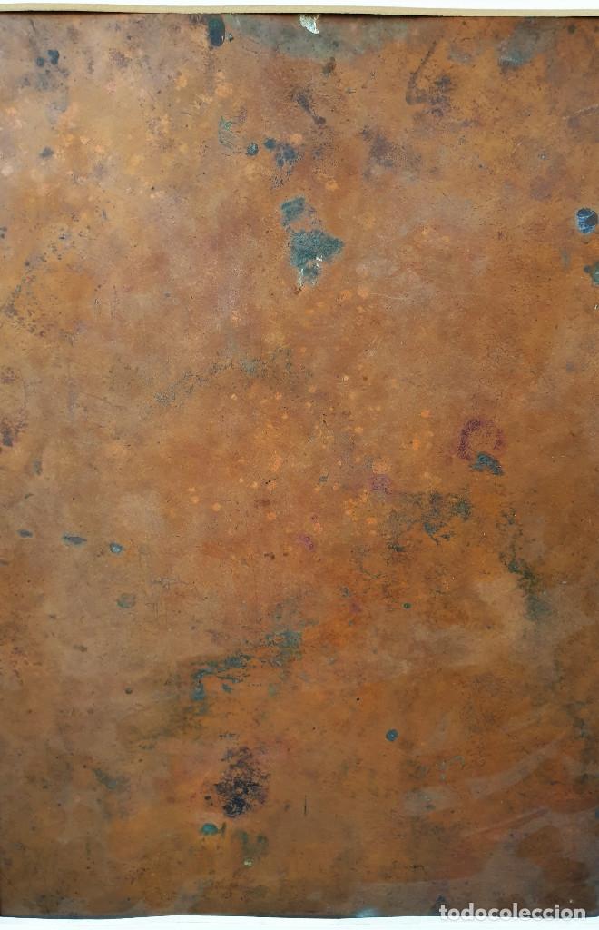 Arte: La visión de San Antonio. Óleo sobre cobre. Siglo XVIII. - Foto 13 - 161482558