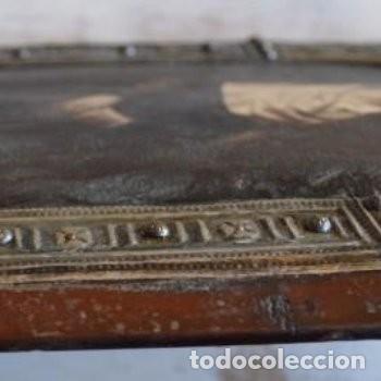Arte: CUADRO O PINTURA DE LA VIRGEN MARÍA O EL DE UNA SANTA. MEDIDAS DE 28 x 14 CM - Foto 5 - 165620106