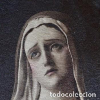 Arte: CUADRO O PINTURA DE LA VIRGEN MARÍA O EL DE UNA SANTA. MEDIDAS DE 28 x 14 CM - Foto 6 - 165620106