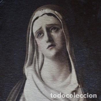 Arte: CUADRO O PINTURA DE LA VIRGEN MARÍA O EL DE UNA SANTA. MEDIDAS DE 28 x 14 CM - Foto 8 - 165620106