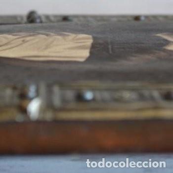 Arte: CUADRO O PINTURA DE LA VIRGEN MARÍA O DE SANTA. MEDIDAS DE 28 x 14 CM - Foto 17 - 165620106