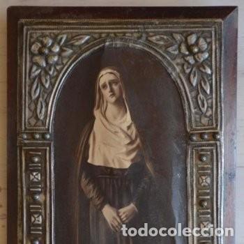 Arte: CUADRO O PINTURA DE LA VIRGEN MARÍA O EL DE UNA SANTA. MEDIDAS DE 28 x 14 CM - Foto 19 - 165620106