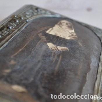 Arte: CUADRO O PINTURA DE LA VIRGEN MARÍA O EL DE UNA SANTA. MEDIDAS DE 28 x 14 CM - Foto 21 - 165620106