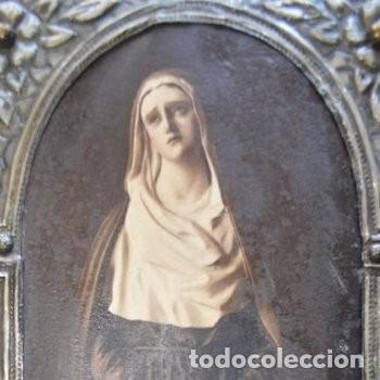Arte: CUADRO O PINTURA DE LA VIRGEN MARÍA O EL DE UNA SANTA. MEDIDAS DE 28 x 14 CM - Foto 23 - 165620106