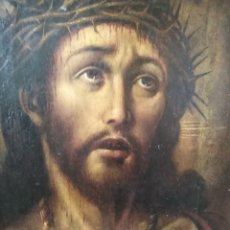 Arte: ANTIGUO OLEO SOBRE TABLA CRISTO ECCE HOMO. Lote 163532754
