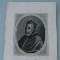 Arte: ANTIGUO GRABADO PAPA GREGORIO XIII COPIA DE LA GALERIA DE SAN PABLO EN ROMA - J. FURNO SCULPT. Lote 165874630