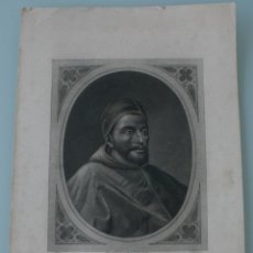 Arte: ANTIGUO GRABADO PAPA CLEMENTE VII - COPIA DE LA GALERIA DE SAN PABLO EN ROMA - J. FURNO SCULPT. Lote 165874818