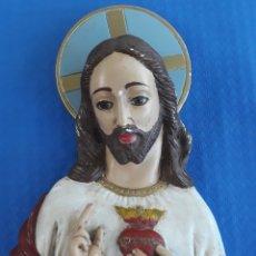 Arte: ANTIGUO YESO SAGRADO CORAZÓN DE JESÚS. Lote 165971690
