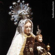 Arte: GRANDES MEDIDAS VIRGEN DEL CARMEN CON NIÑO SXIX TALLA DE MADERA. Lote 166039234