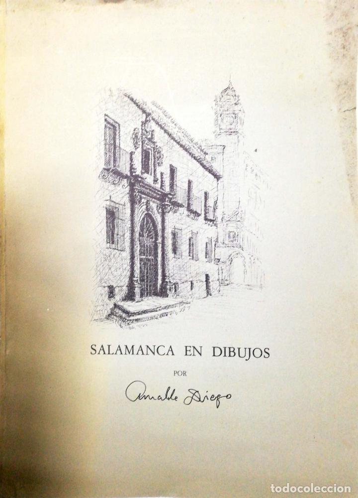 Arte: SALAMANCA EN DIBUJOS POR AMABLE DIEGO. CARPETA CON DIEZ DIBUJOS (REPRODUCIONES), EDITADA EN 1982. - Foto 2 - 166129614
