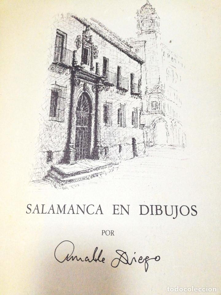 Arte: SALAMANCA EN DIBUJOS POR AMABLE DIEGO. CARPETA CON DIEZ DIBUJOS (REPRODUCIONES), EDITADA EN 1982. - Foto 3 - 166129614