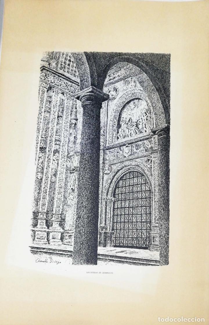 Arte: SALAMANCA EN DIBUJOS POR AMABLE DIEGO. CARPETA CON DIEZ DIBUJOS (REPRODUCIONES), EDITADA EN 1982. - Foto 4 - 166129614