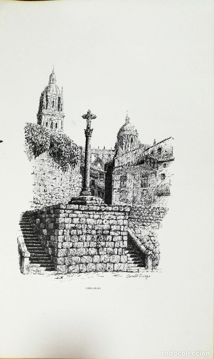 Arte: SALAMANCA EN DIBUJOS POR AMABLE DIEGO. CARPETA CON DIEZ DIBUJOS (REPRODUCIONES), EDITADA EN 1982. - Foto 7 - 166129614