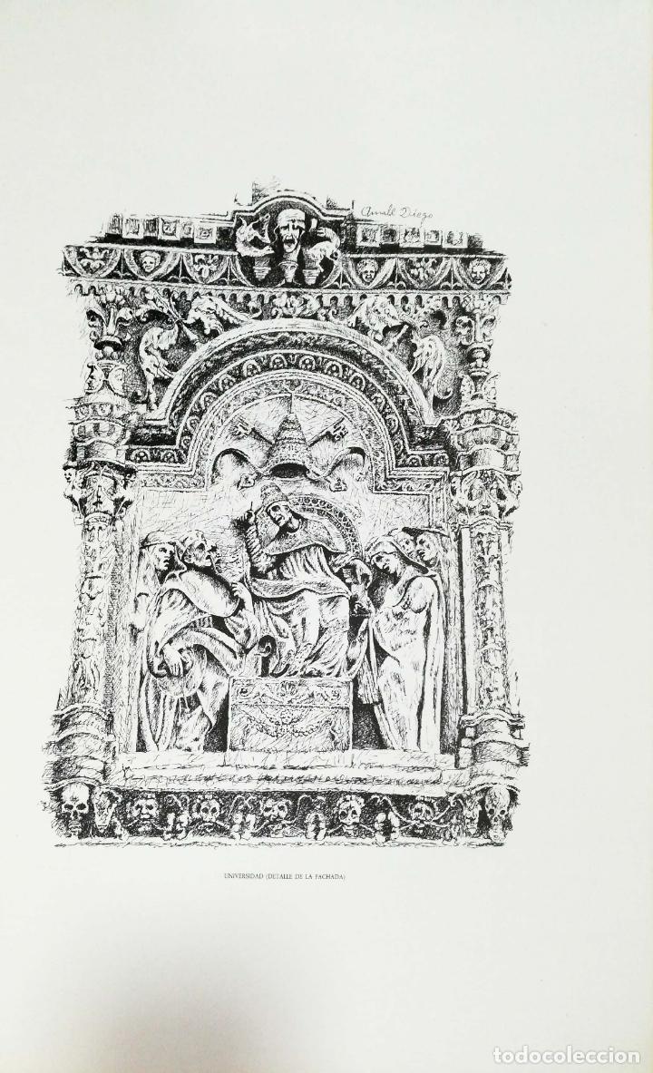 Arte: SALAMANCA EN DIBUJOS POR AMABLE DIEGO. CARPETA CON DIEZ DIBUJOS (REPRODUCIONES), EDITADA EN 1982. - Foto 8 - 166129614