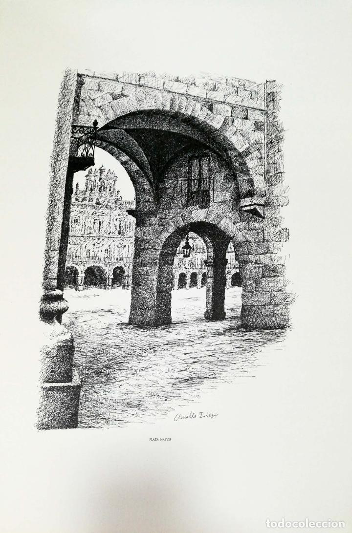 Arte: SALAMANCA EN DIBUJOS POR AMABLE DIEGO. CARPETA CON DIEZ DIBUJOS (REPRODUCIONES), EDITADA EN 1982. - Foto 12 - 166129614