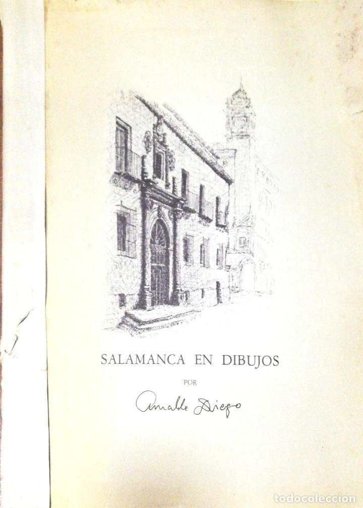 SALAMANCA EN DIBUJOS POR AMABLE DIEGO. CARPETA CON DIEZ DIBUJOS (REPRODUCIONES), EDITADA EN 1982. (Arte - Arte Religioso - Litografías)