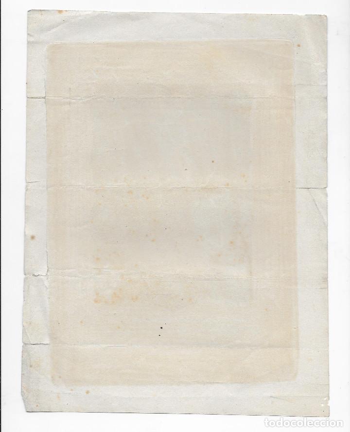 Arte: GRABADO ORIGINAL SIGLO XIX - MARIA MARGARITA DE ALACOQUE - INDULGENCIAS - Foto 2 - 166141818