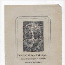 Arte: GRABADO ORIGINAL SIGLO XIX - LA SANTISIMA TRINIDAD - BARRIO DEL PUENTE - CREVILLENTE ( ALICANTE ). Lote 166143358
