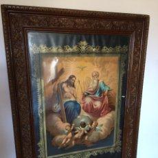 Arte: MARAVILLOSO GRAN CUADRO RELIGIOSO, VELADOR DE MUERTE GRAN MARCO TALLADO (VER FOTOS). Lote 166164974