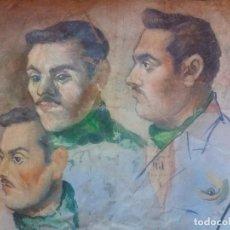 Arte: ÓLEO ANTIGUO CARAS SEÑOR SIN ENMARCAR MUY CURIOSO SIN FIRMA. Lote 166190886